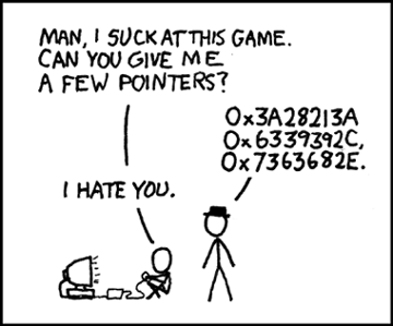 Pointers from xkcd.com